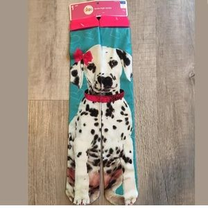 NWT Girls Dog Dalmatian Knee High Socks Shoe 3-10